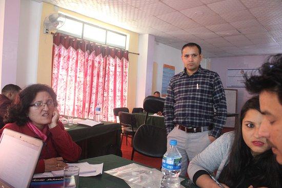 Dadeldhura, Nepál: seminar hall for around 100 participants