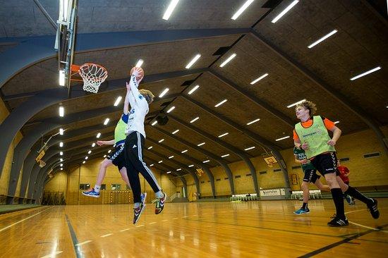 Oksbol, Denmark: Indendørshal med mulighed for fodbold, basket og badminton.