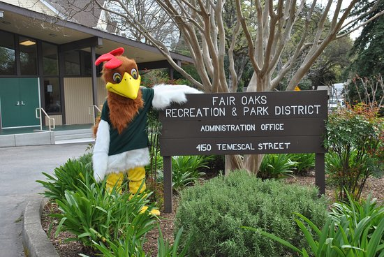 Fair Oaks, CA: Rocky the Rooster in front of our District Office!