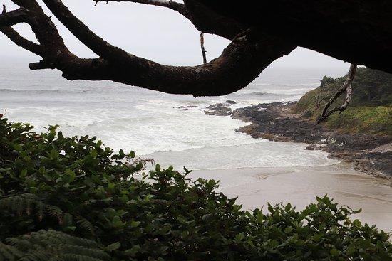 Arch Cape, Oregón: The ocean retreats