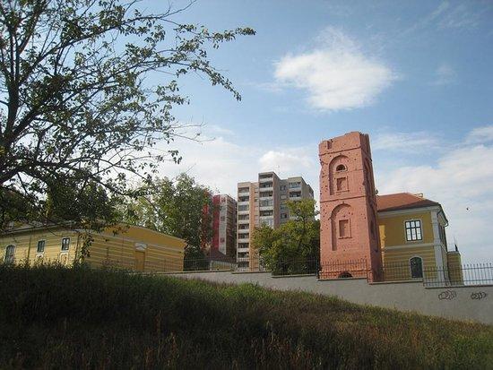 Vukovar-Syrmia County, Croácia: Vukovar stadscentrum, omgeving van kasteel Eltz met aandacht voor oorlogsschade uit 1991.