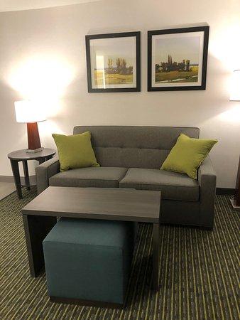 Living room area in King Studio