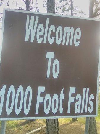 "One of Belize's tallest waterfalls "" 1000 footfalls""."