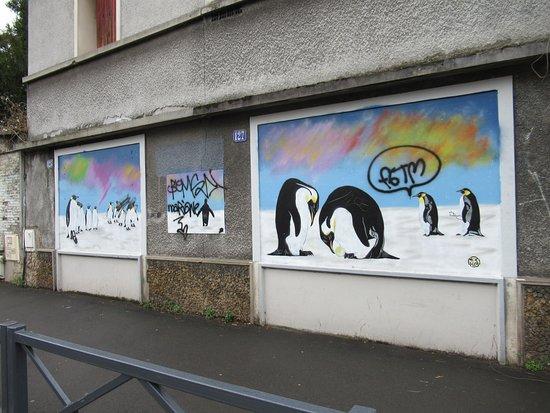 Fresque Pingouins