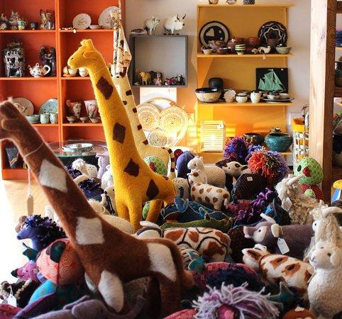 East London, Südafrika: handmade toys