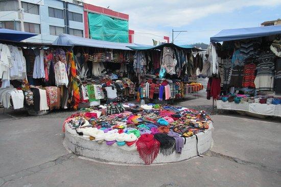 Otavalo Market: Knit wear.