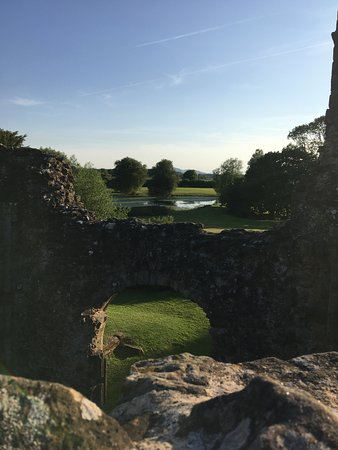 Lilleshall, UK: The view from the top of the spiral staircase