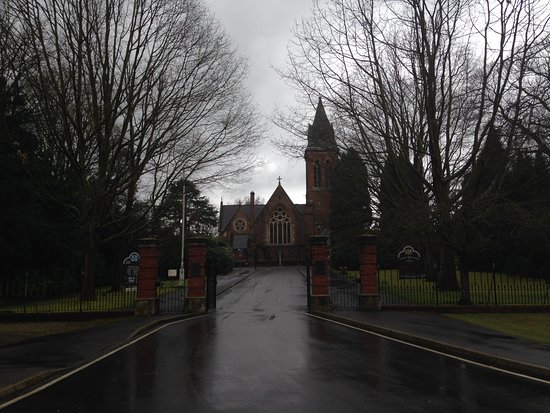 Aldershot, UK: Looing towards church along Old Contemptibles Ave