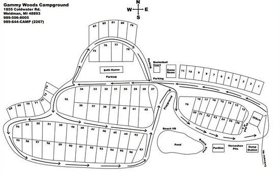 Weidman, MI: campground map
