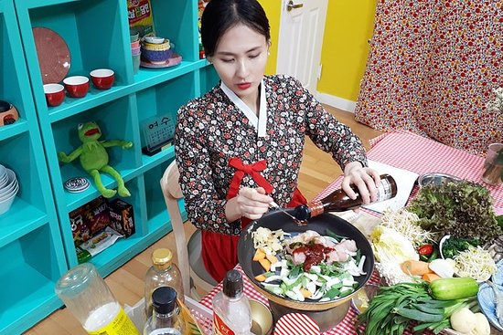 フルコース食事と地元の市場見学を含む韓国料理教室