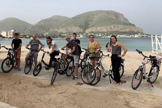 Playa de Mondello en bicicleta...