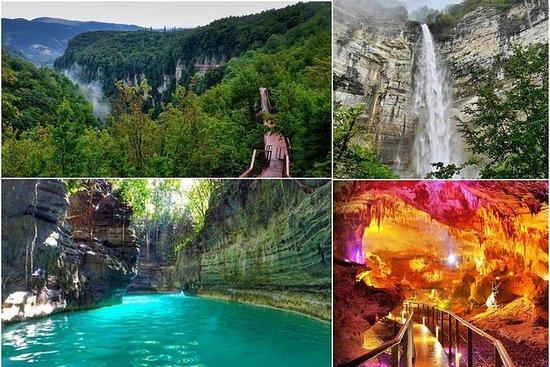 Viaje al cañón Martvili, la cueva...