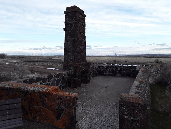 Jerome, ID: remains of entrance building