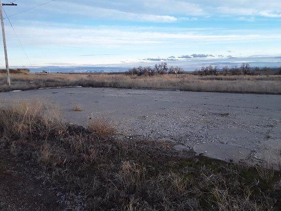 Jerome, ID: A few concrete pads indicate where buildings used to be