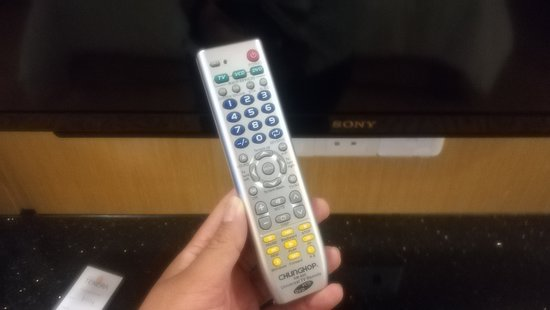 Bandar Baru Bangi, Malaysia: Sony TV, but using other remote control, cannot full utilize the function of TV
