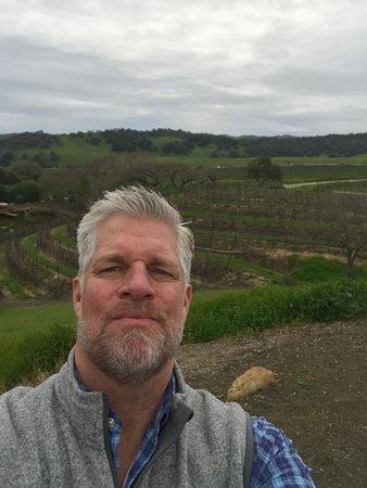 Santa Rita Hills: Gorgeous winter day in a dramatically beautiful organic vineyard.