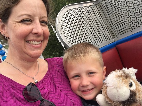Jacksonville, IL: Riding the Ferris Wheel with my sweet boy and his stuffed bunny.