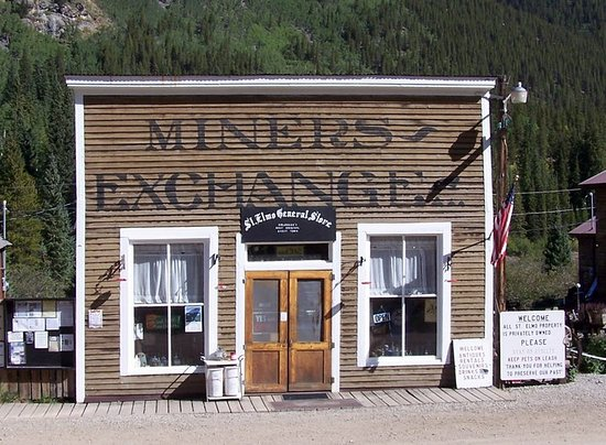 Nathrop, CO: St. Elmo General Store, Inc. occupies the MINERS EXCHANGE building that was an old saloon from the 1800's.