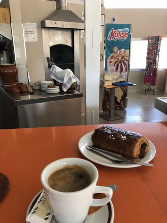 Huetor Tajar, Hiszpania: Kaffe och chokladwienerbröd