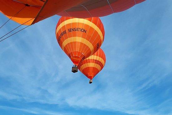Varmluftsballongflytur over Cholet...