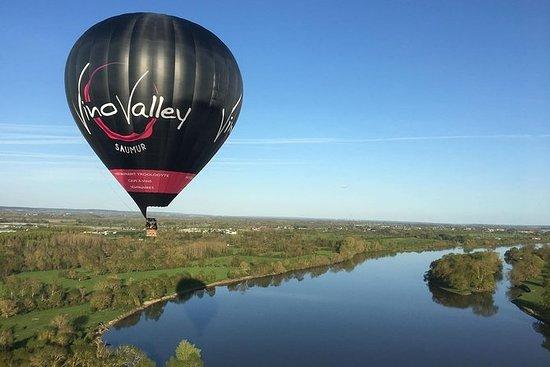 Ballongflytur over Saumur: Vingårder...