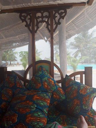 View from Zanzibari day bed
