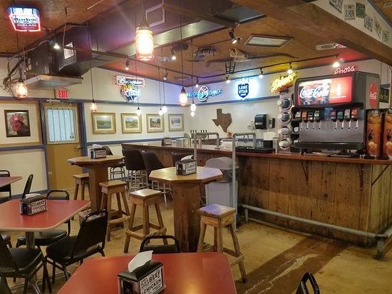 Adkins, TX: Interior of restaurant