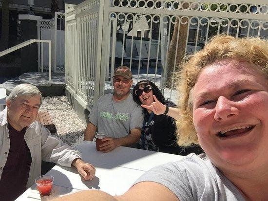 Desert Rose Resort: us having a great time at the resort