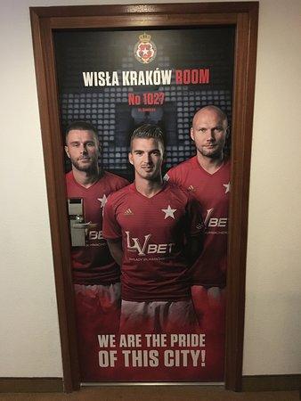 drzwi do pokoju WISŁY Kraków