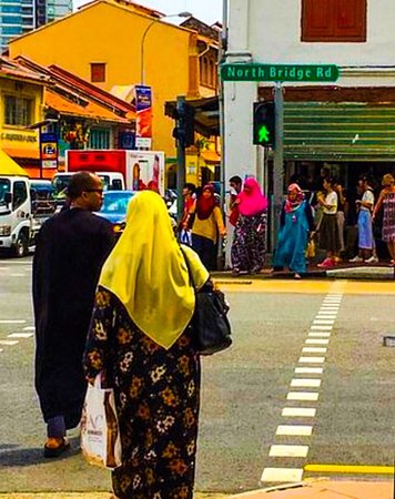 Wonderful vibrant Arab street district of Singapore