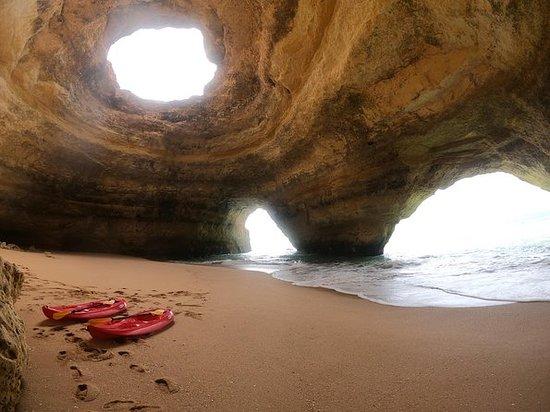 Benagil caves with kayak