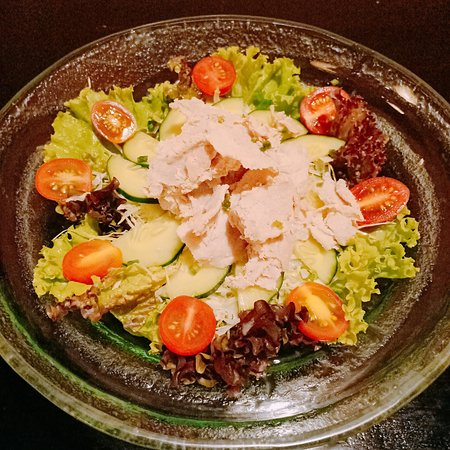 Pork shabu-shabu salad
