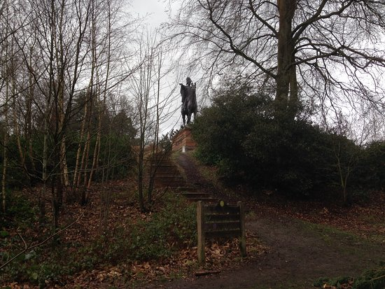 Equestrian Statue of the Duke of Wellington: Steps leading up to statue
