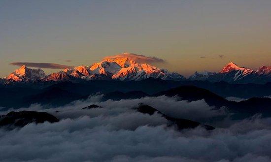 Uttarey, India: Khanchendzonga from Pokthey Dara East Sikkim