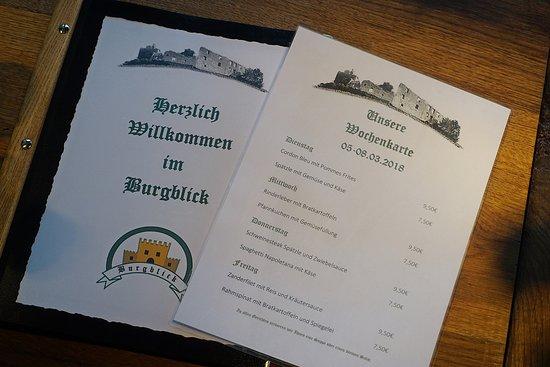Wittnau, גרמניה: Wir freuen uns über euren Besuch zum Mittagstisch im Burgblick-Wittnau