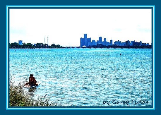 Belle Isle Park - Detroit, Michigan From Belle Park looking towards downtown Detroit.