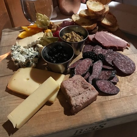 game and cheese board. Delicious