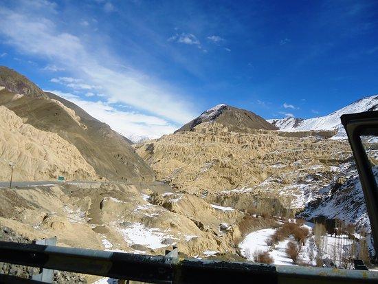 Lunar landscape  on way to  Lamayuru, Ladakh on 05/02/2019