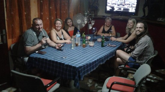 Brufut, Gambia: Guests in our Bistro Bar