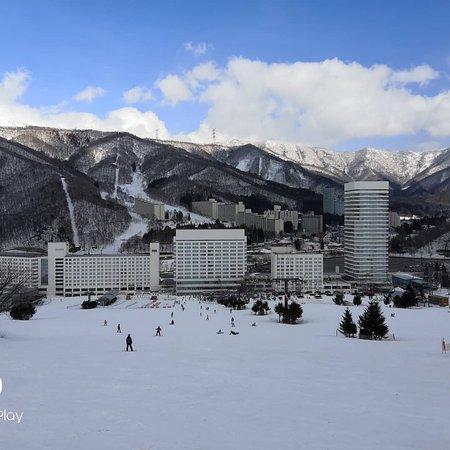 Hotel in front of ski.