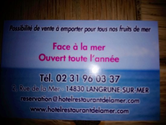 Langrune-sur-Mer, France: Hotel Restaurant de la Mer
