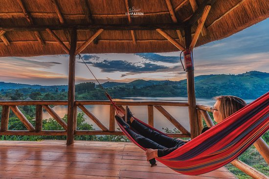 Your own hammock at your private porch with views on the crater