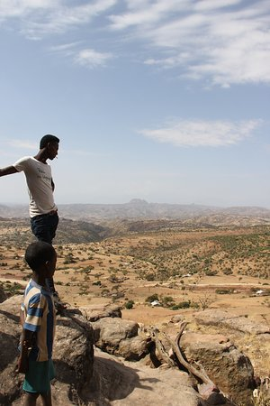 Abiy Addi, เอธิโอเปีย: View from the Abba Yohanni monastery into the Tembien