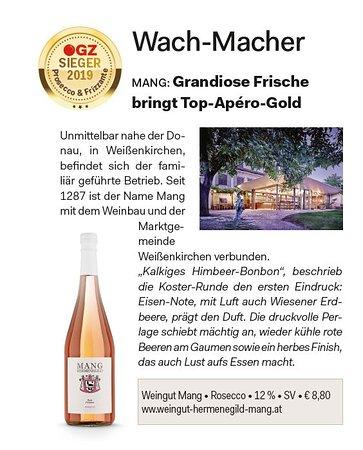 Weißenkirchen in der Wachau, Österreich: Unser Rosecco ist Sieger!