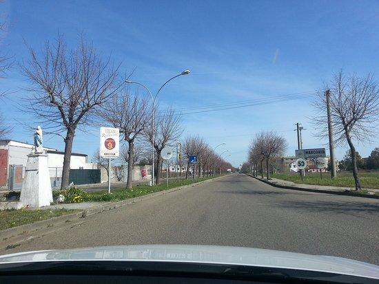 Viale Ontario a Marconia.  Percorrendo la strada provinciale Pisticci-Mare si giunge a Marconia tramite questo vialone (Viale Ontario), che immette direttamente nella piazza principale, cioè Piazza Elettra.