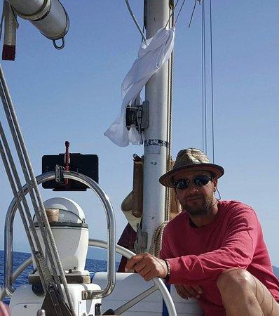 Aeolian Islands, Italy: Nelle mie vesti di comandante!