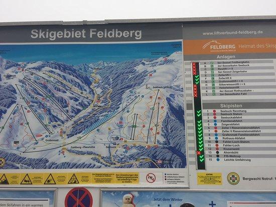 Feldberg, Germany: Nur 4 Liftanlagen im gesamten Verbund in Betrieb.