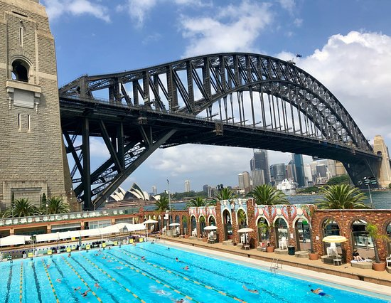 Aqua Dining Verandah Dining Outlook To The North Sydney Olympic Pool Harbour Bridge Opera House And Cbd Picture Of Aqua Dining Milsons Point Tripadvisor