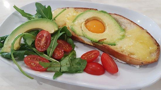 Budgewoi, Australia: Avocado, rocket and sweet cherry tomato's on sourdough ...