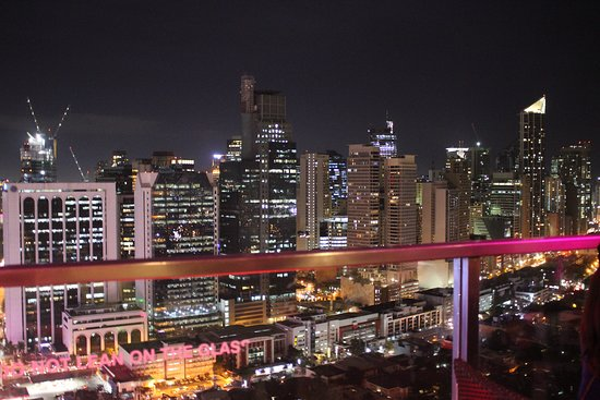 View From The Restaurant Picture Of City Garden Grand Hotel Makati Tripadvisor